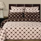 Blush & Chocolate 8PC Bloomingdale Duvet covers and sheet set Egyptian Cotton King