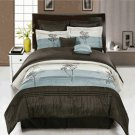 Portland Aqua Blue 8-Piece Comforter Set King