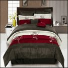 Portland Burgundy 8-Piece Comforter Set King
