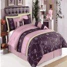Grand Park Purple 7-Piece Comforter Set Queen