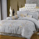 Silver Linen Oversized 7-Piece Comforter Set Full