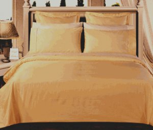 Gold Solid Down Alt. 4-pc Comforter Set, Egyptian cotton, 550 count Full/Queen