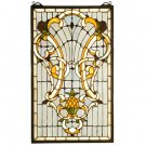 """12""""W X 20""""H Victorian Welcome Stained Glass Window"""