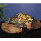 "Stained Glass 4.5""H Turtle Tiffany Glass Accent Lamp"