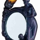 "16""H Mother & Child Mirror Amber And Purple Accent Lamp"