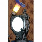 """16""""H Mother & Child Mirror Amber And Blue Accent Lamp"""