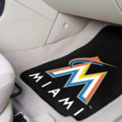 MLB- Miami Marlins 2 pc Carpeted Floor mats