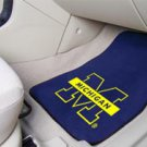 University of Michigan  2 pc Carpeted Floor mats