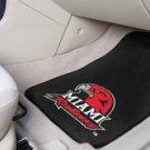 Miami of Ohio Redhawks  2 pc Carpeted Floor mats