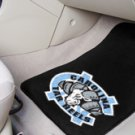UNC University of North Carolina- Carolina Tar Heels Ram Logo 2 pc Carpeted Floor mats