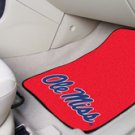 University of Mississippi Ole Miss 2 pc Carpeted Floor mats