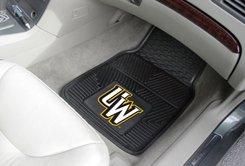 University of Wyoming UW Logo 2 pc Heavy Duty Vinyl Floor mats