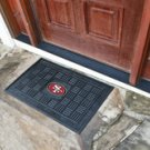 "NFL -San Francisco 49ers Door Mat Heavy Duty Vinyl 18""x30"""