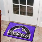 "MLB-Colorado Rockies 19""x30"" carpeted bed mat"