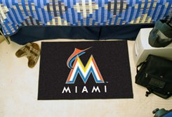 "MLB-Miami Marlins 19""x30"" carpeted bed mat"