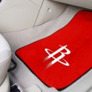 NBA- Houston Rockets 2 pc Carpeted Floor mats Front