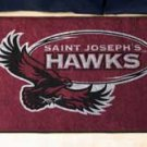 "St. Joseph's University Hawks 19""x30"" carpeted bed mat/door mat"