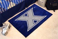 """Xavier University Musketeers 19""""x30"""" carpeted bed mat/door mat"""