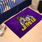 """James Madison University JMU 19""""x30"""" carpeted bed mat/door mat"""