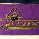 """East Carolina University Pirates 19""""x30"""" carpeted bed mat/door mat"""