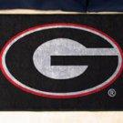 "University of Georgia G logo on Black 19""x30"" carpeted bed mat/door mat"