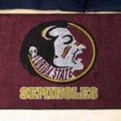 "Florida State University Seminoles 19""x30"" carpeted bed mat/door mat"