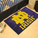 """Notre Dame ND Irish 19""""x30"""" carpeted bed mat/door mat"""