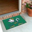 """Notre Dame Fighting Irish 19""""x30"""" carpeted bed mat/door mat"""
