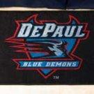 "DePaul University Blue Demons 19""x30"" carpeted bed mat/door mat"