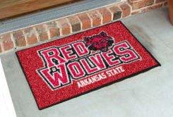 "Arkansas State University Red Wolves  19""x30"" carpeted bed mat/door mat"