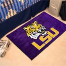 "Louisiana State University LSU 19""x30"" carpeted bed mat/door mat"