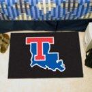 "Louisiana Tech University  19""x30"" carpeted bed mat/door mat"