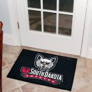 "University of South Dakota Coyotes 19""x30"" carpeted bed mat/door mat"