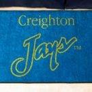 """Creighton University Jays 19""""x30"""" carpeted bed mat/door mat"""