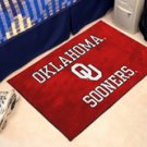 "University of Oklahoma OU Sooners 19""x30"" carpeted bed mat/door mat"