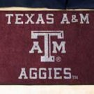 "Texas A&M University Aggies 19""x30"" carpeted bed mat/door mat"