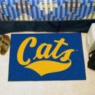 "Montana State University Cats 19""x30"" carpeted bed mat/door mat"