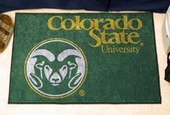 """Colorado State University CSU Logo 19""""x30"""" carpeted bed mat/door mat"""