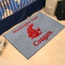 "Washington State University Cougars 19""x30"" carpeted bed mat/door mat"