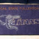 "Cal State Fullerton Titans 19""x30"" carpeted bed mat/door mat"