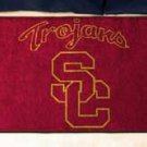 "University of Southern California Trojans 19""x30"" carpeted bed mat/door mat"