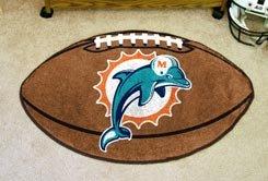 "NFL-Miami Dolphins 22""x35"" Football Shape Area Rug"