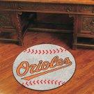 "MLB-Baltimore Orioles 29"" Round Baseball Rug"