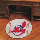 """MLB-Cleveland Indians 29"""" Round Baseball Rug"""
