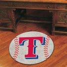 "MLB-Texas Rangers 29"" Round Baseball Rug"
