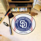 "MLB-San Diego Padres 29"" Round Baseball Rug"