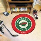 "NHL-Minnesota Wild 29"" Round Hockey Puck Rug"