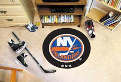 "NHL-New York Islanders 29"" Round Hockey Puck Rug"