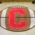 "Cornell University 22""x35"" Football Shape Area Rug"