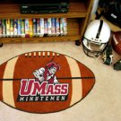 "University of Massachusetts U Mass Minutemen 22""x35"" Football Shape Area Rug"